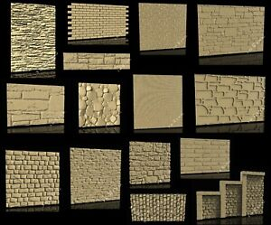 15-Pcs-STL-3D-Models-BRICKS-amp-STONES-Textures-for-CNC-Router-3D-Printer-Engraver