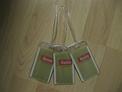 Winston Cigarettes Luggage Tags - Vintage Playing Card Filter Pack Name Tag (3)
