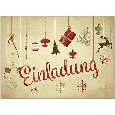 15 x einladungskarten weihnachten motiv: vintage beige