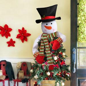 Christmas-Tree-Topper-Top-of-Tree-Hat-Snowman-Outdoor-Indoor-Decorations-Kit-Set