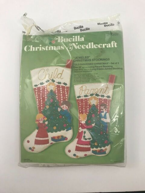 Free Shipping holidays Christmas gift idea Set of five handmade stocking ornaments fashioned out of vintage textile fragments