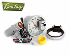 "Autometer Tachometer Gauge 5"" Monster Tach Rev Counter White 10,000 RPM Dial VW"