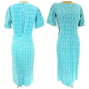 Vintage 50s Murray Millman Pleated Dress Size Medium