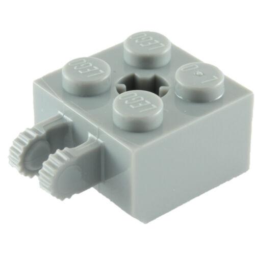 Lego 40902 2x2 Verrouillage avec 2 Vertical Doigts /& Axle hole-Choisissez Quantité /& col NEUF