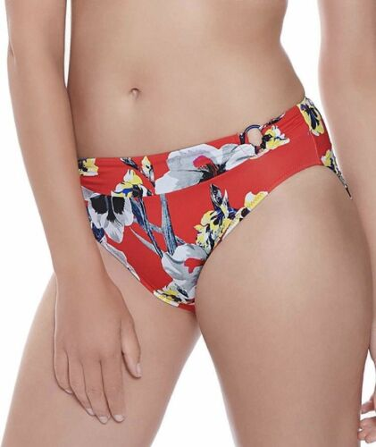 FANTASIE CALABRIA BIKINI SET RED PANSY UNDERWIRED PADDED FULL CUP TOP MID BRIEF
