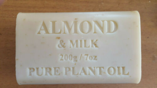 PURE PLANT OIL ALMONT & MILK SOAP 12 X 200G FREE EXPRESS POSTAGE