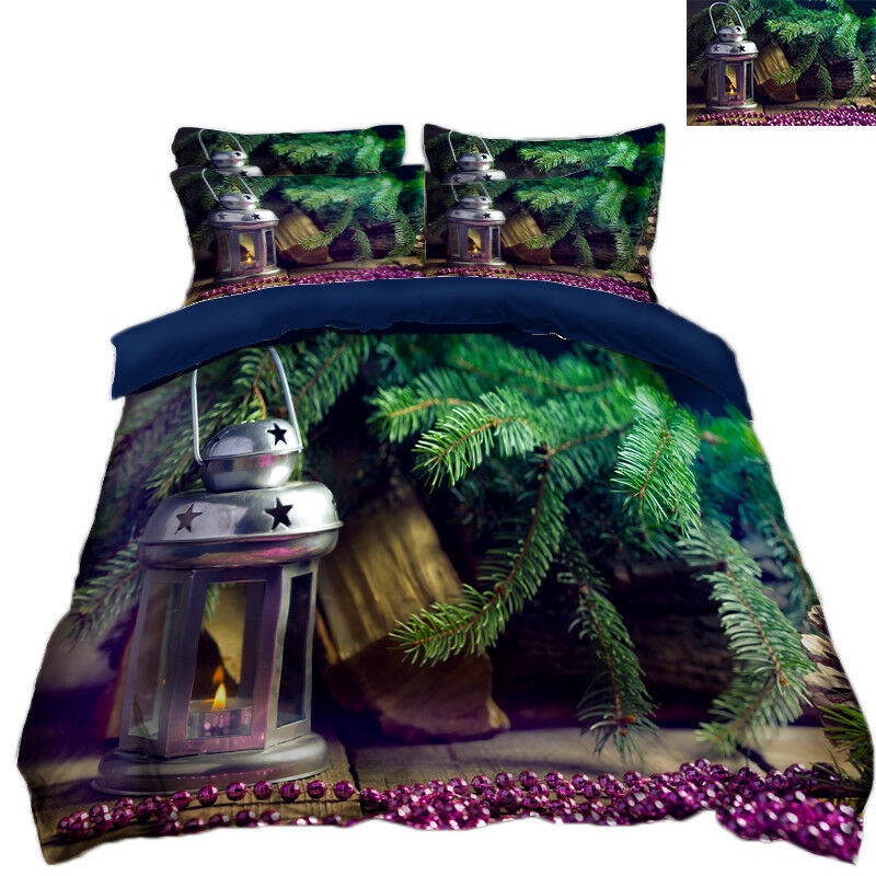 3d Christmas Xmas 742 bett Cushion abdeckungs Stitch Duvet abdeckung Set Single DE