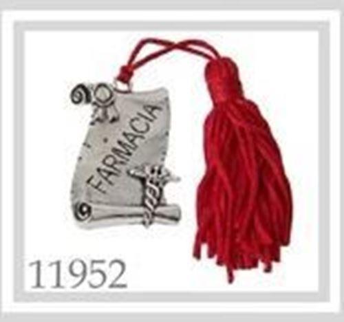 Bomboniera Ciondolo pergamena laurea FARMACIA deco 40x30mm art 11952