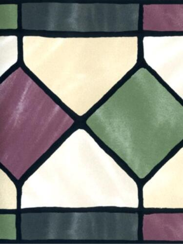 STAINED GLASS LOOK DIAMONDS  WALLPAPER BORDER