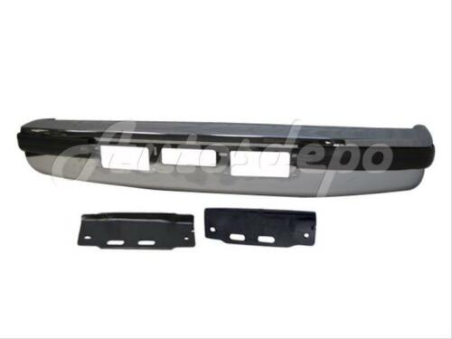For 92-97 F150 F250 F350 Front Bumper Chrome Face Bar Outer Pad Bracket 5Pcs