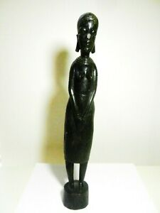 Hand Carved Ebony Sculpture Tanzania Bookends
