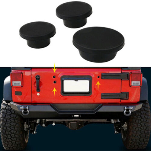 Tailgate Rubber Plug Set Spare Tire Carrier Delete For Jeep Wrangler JK 2007-17