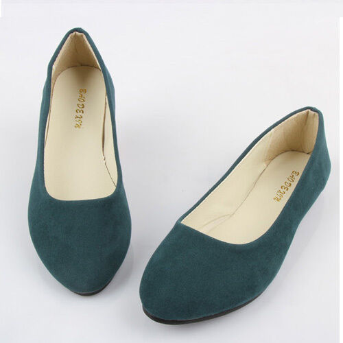 New Women Ballerina Loafers Flat Single Shoes Ballet Slip On Casual Candy Flats