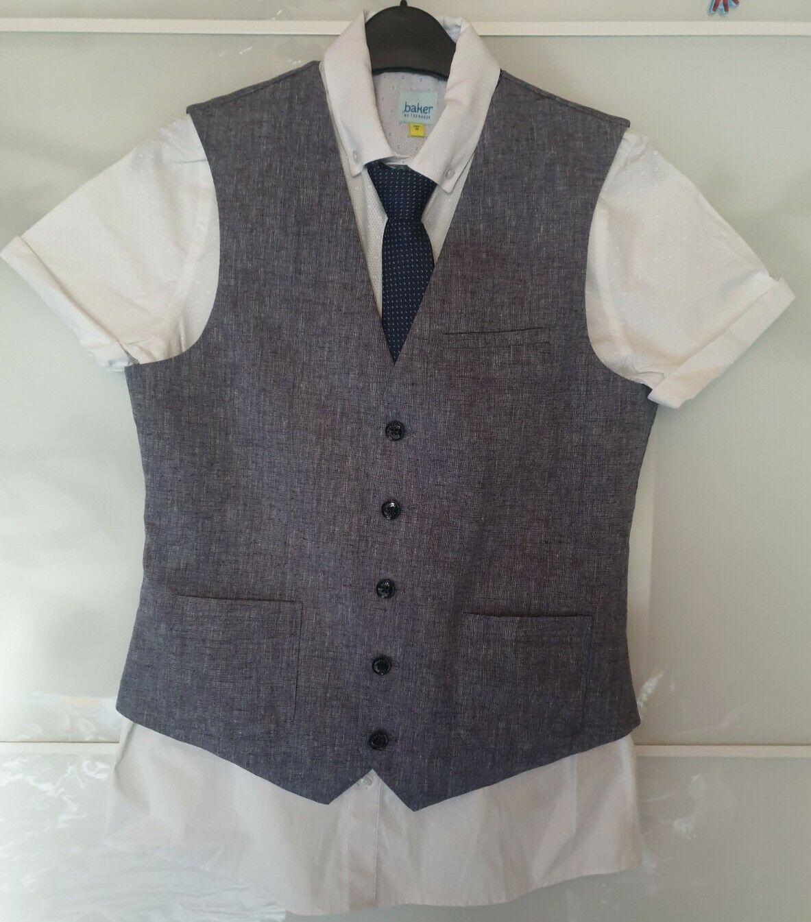 Ted Baker Boys 3 Piece Waistcoat & Shirt Set Age 14 New.