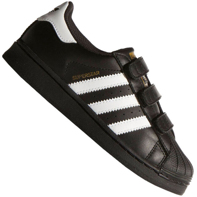 159da3e28b79 Kids s adidas Originals Superstar Foundation CF C Trainers in Black ...