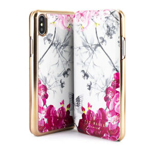 reputable site 21c13 72178 Details about Ted Baker® Mirror Folio Case for iPhone XS Max Babylon Nickel