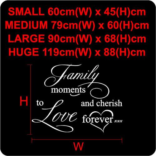 Autocollants muraux citations famille Mur Citations vinyle Wall Art Decal Stickers N91