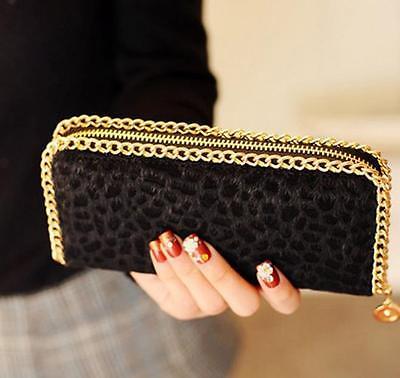 Fashion HOT SELL Cute Leopard Purse Clutch Card Leather + Zipper Long Wallet New