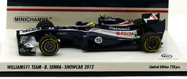 Minichamps Williams F1 Showcar 2012 - Bruno Senna 1 43 Scale