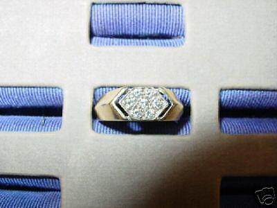 14k gold Diamond Ring-With 7  Diamonds