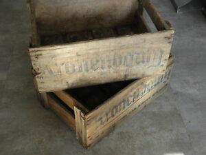 HonnêTe Ancien 2 Caisse Vintage Kronenbourg Indus Bar Bistro Loft Atelier Industriel