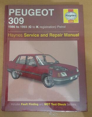 Haynes Service /& Repairs Manual Peugeot 309  1986-1993  Petrol