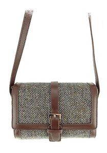 Leather en bruns Mini Sacoche vᄄᆭritable e Harris chevrons cuir Tweed ᄄᄂ Jemima Col7 knwONP08X