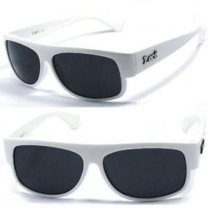 7286038e3f Locs Mens Cholo Gangsta OG Flat Top Sunglasses UV Protection White ...