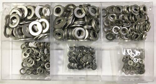 550 Teile Sortiment Unterlegscheiben DIN 125 M3 bis M10 Edelstahl V2A