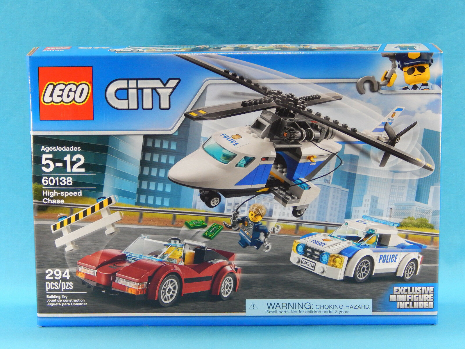 Lego City 60138 High-speed Chase 294pcs New Sealed 2017