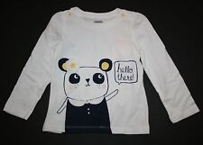 New Gymboree Front and Back Panda Top Tee Shirt Size 5T NWT Flower Shower Line