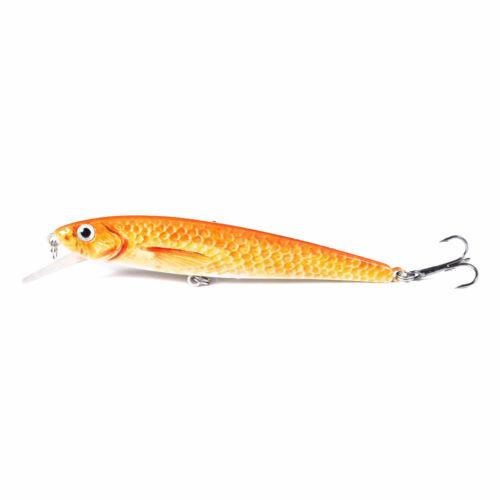 5PCS Lot 11cm//11g Minnow Fishing Bait Bass Crankbait Fish Lures Tackle Wobbler