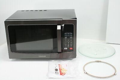 Toshiba EM131A5C-BS Microwave Oven w Smart Sensor Easy ...