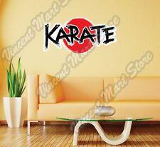 "Karate Shotokan Martial Sparring Japan  Wall Sticker Room Interior Decor 25""X16"""
