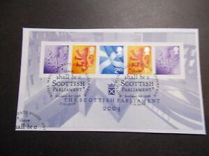 GB-2004-Scottish-Parliament-M-S-Very-Fine-Used-Set-on-piece-ex-fdc-UK-Seller