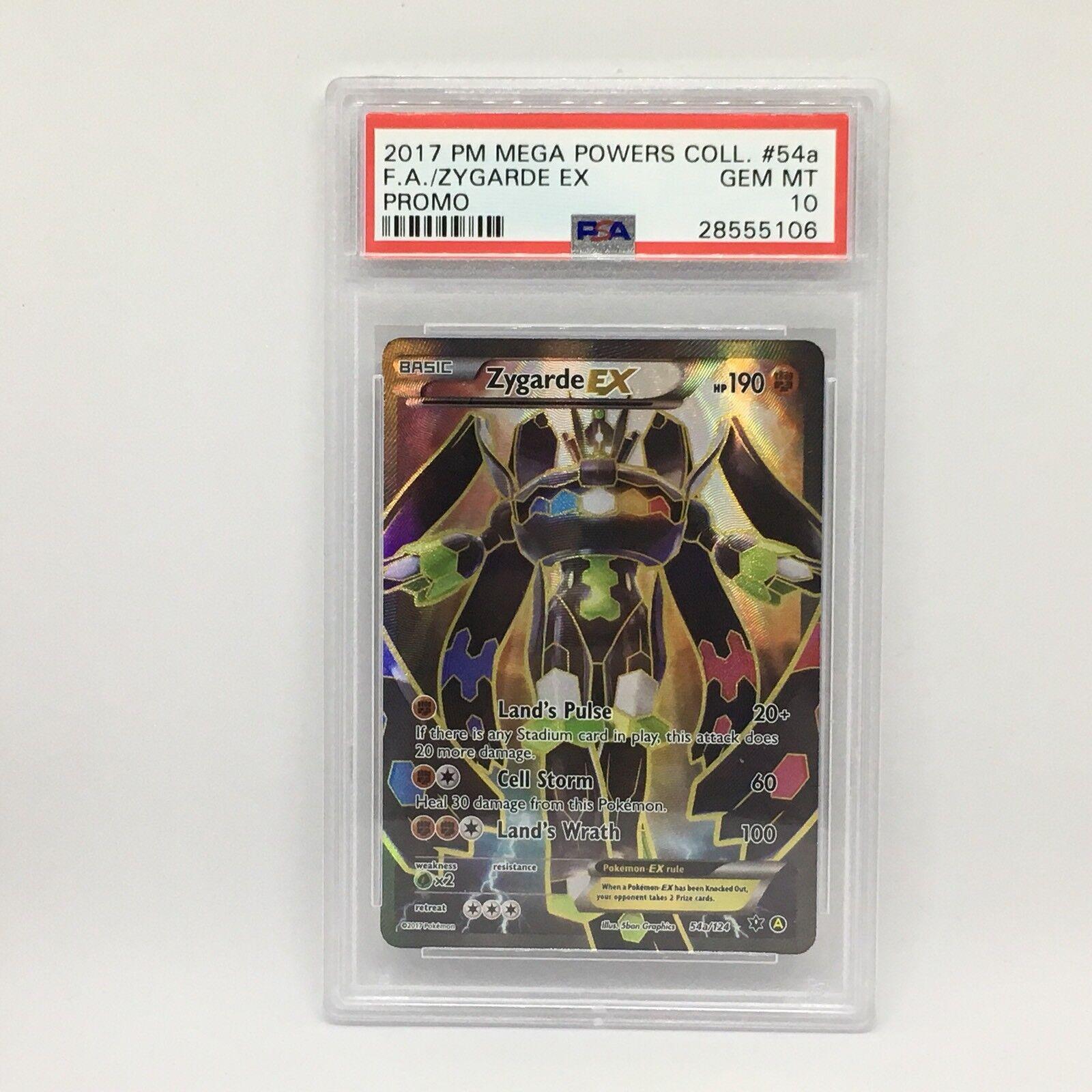 Psa - 10 zygarde ex voller kunst   54a pokémon - mega - kräfte sammeln promo card