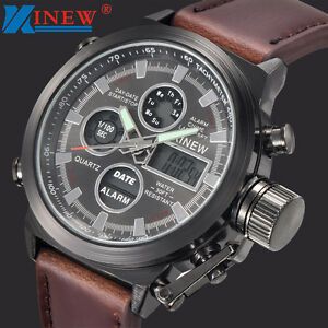 Sport-Military-Army-LED-Men-039-s-Watches-Analog-Quartz-Stainless-Steel-Wristwatches