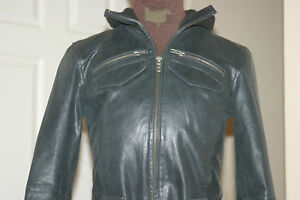 Uk8eu36us4 Immagini C34ins Womens Chest C86cms S Biker Leather Jacket Black Real A0qwHSrA