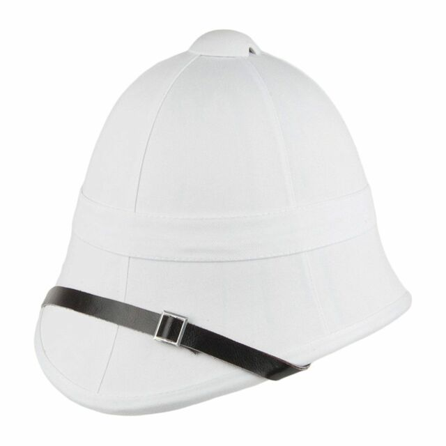 British Pith Helmet White Military Safari Hat Army Reenactment Zulu Boer  War Cap for sale online  983105a4586