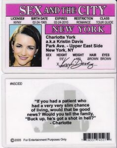 charlotte-york-SEX-IN-THE-CITY-plastic-ID-card-Drivers-License-Kristin-Davis