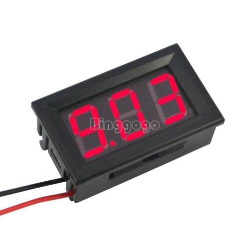 """Red 0.56/"""" DC4.5-30V Voltmeter LED Panel Three Digital Display Volt Voltage Meter"""