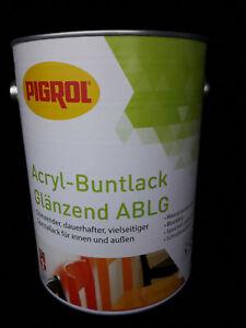 (11,20 €/l.) Pigrol Acrylique-buntlack Brillant Ablg 2,5 L-afficher Le Titre D'origine
