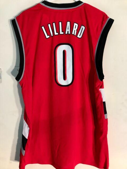designer fashion 55e7d 99aeb adidas NBA Jersey Portland Trailblazers Damian Lillard Red Sz 2x
