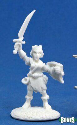 2019 Moda Reaper Miniatures 77164 Ossa: Elliwyn Heatherlark, Gnome Bard-mietitore Ossa-mostra Il Titolo Originale