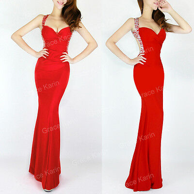Sexy Mermaid Style Party Evening Bridal Cocktail Pageant Prom Stretch Long Dress
