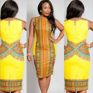 2d022256e Image is loading Fashion-Design-African-Traditional-Print-Dashiki-Dress- Womens-