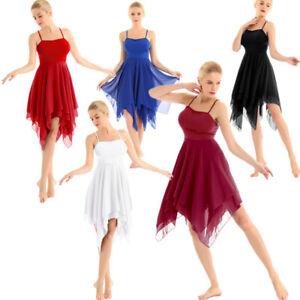 Women-Adult-Girl-Ballet-Dance-Dress-Gym-Leotard-Camisole-Skirt-Dancewear-Costume