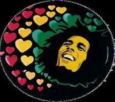 Bob Marley Hearts - Window Sticker / Decal