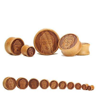 BLACK EBONY CONVEX Wooden Ear Plugs Stretchers Jewellery Saddle Timber PL90