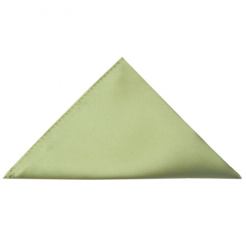 Sage Green Pocket Square Satin Finish Wedding Party packet Hanky Handkerchief